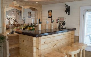 Log cabin bar fitout