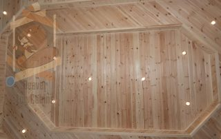 timber cabin ceiling finish