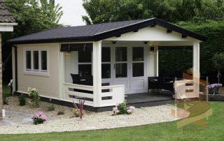 log cabin build in Culmore