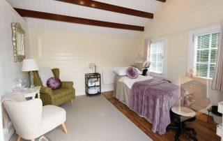 stunning log cabin salon