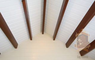 ceiling of log cabin