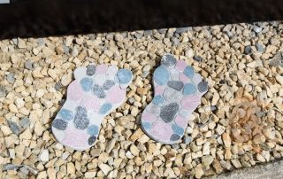 gravel footprints