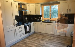 fitted kitchen in cabin