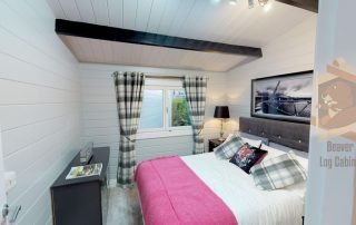 fitted bedroom in log cabin ireland