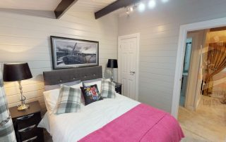 bedroom fitted in a cabin