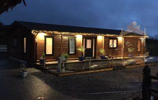 Stunning Lecklin Lodge lit up