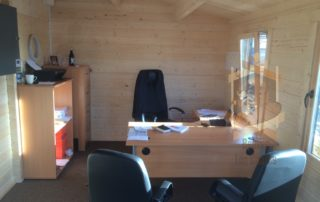 office log cabin