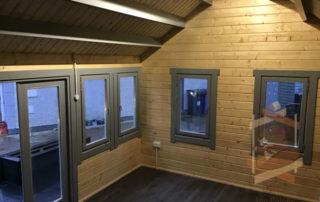 inside log cabin clockhouse