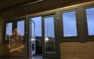 cabin windows and doors