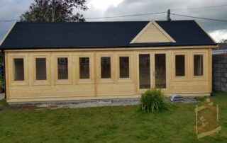 Our recent build of our Clockhouse Log Cabin Millie