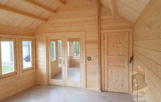 Beaver log cabin clockhouse