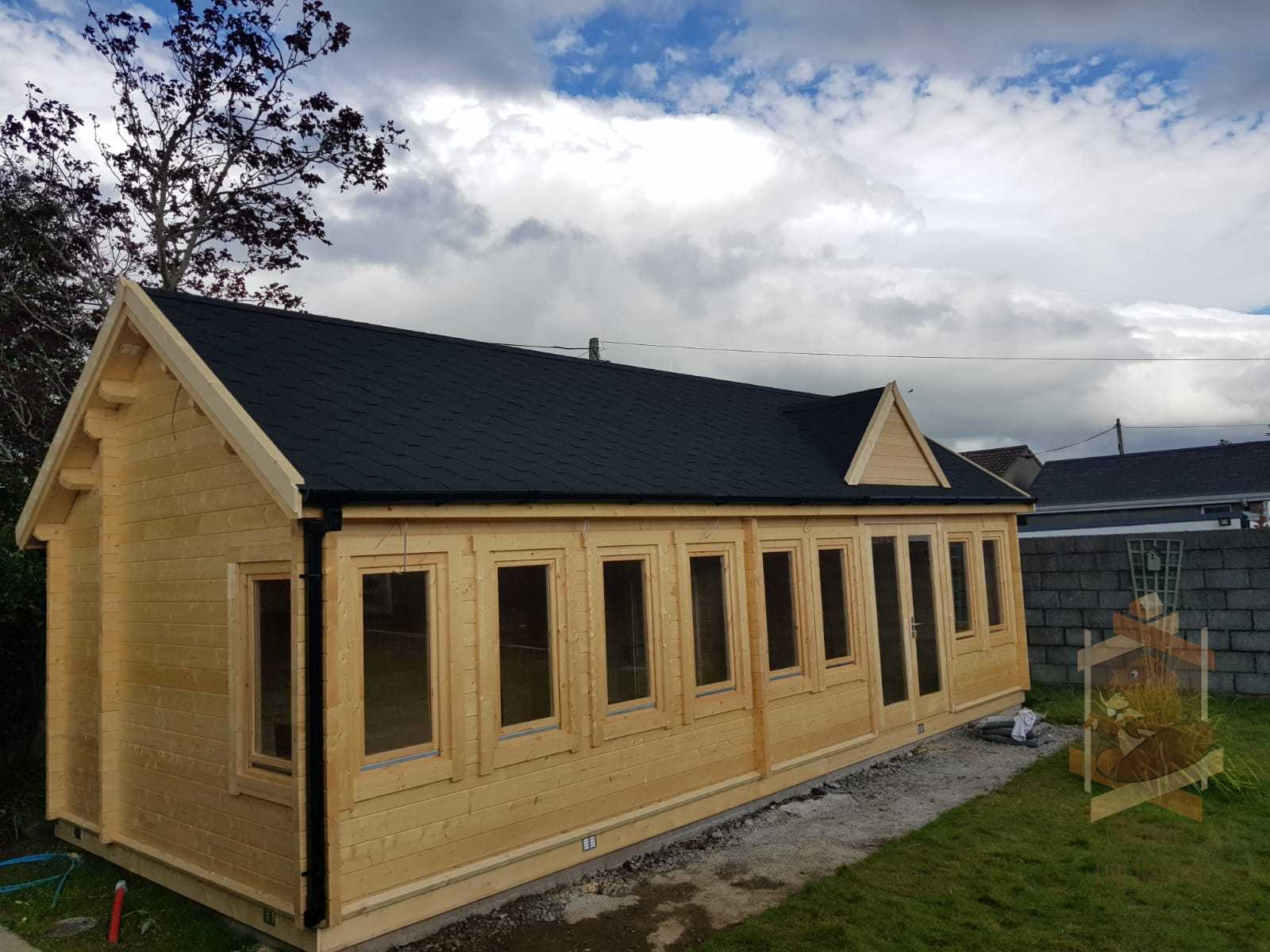Our recent build of our Clockhouse Log Cabin Millie installed in Kerry