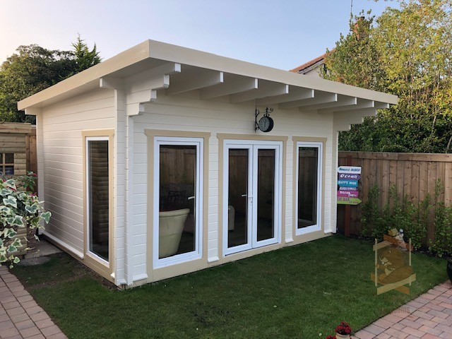 Mia Garden Log Cabin side view
