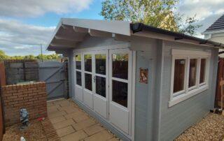 Recent build of a cabin bar in Newcastle, Co. Dublin