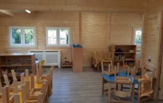log cabin classroom