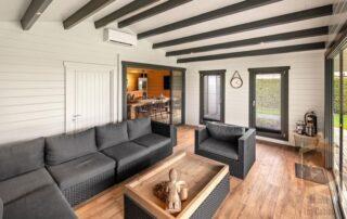 luxury log cabin interior