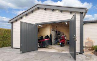 luxury log cabin garage