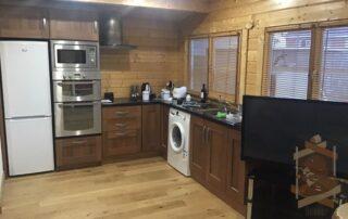 kitchen in Log Cabin Ballyragget