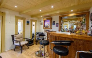 Amazing Log Cabin Fitted Bar by Beaver Log Cabins Ireland