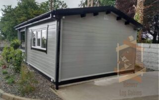 Cabin supplied and assembled by Beaver Log Cabins